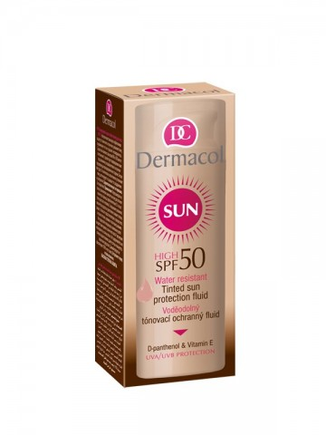 Sun Tinted water resistant fluid SPF50