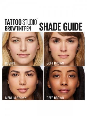 TATTOOSTUDIO - Brow Tint Pen Makeup Shade Guide